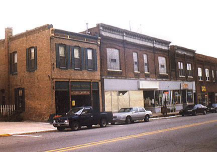 Historic Structures of Lowell, Indiana - Commercial Ave.