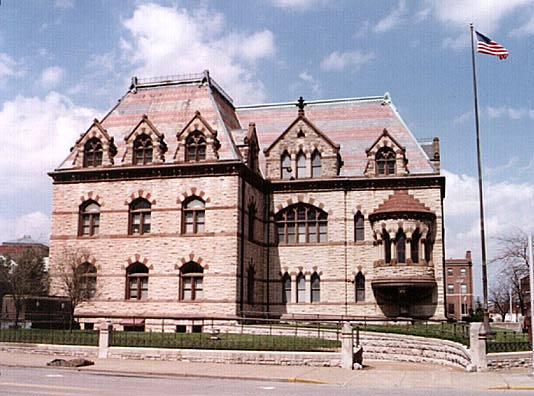 Landmarks of Evansville, Indiana - Public Buildings - Evansville Post Office, 1869 - Richardsonian Romanesque