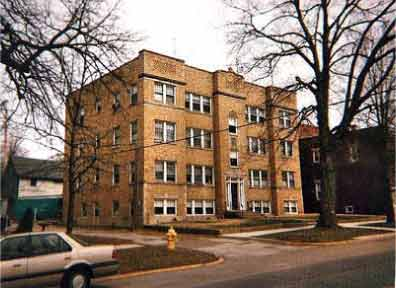 historic apartment building, Valparaiso Indiana