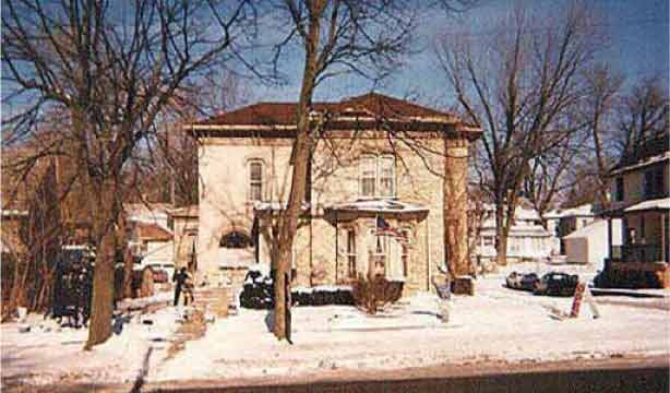A brick home of the Italianate or Italian Villa style of architecture, Valparaiso Indiana